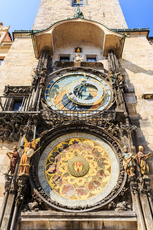 popular science: Astronomical Clock (Orloj) in the Old Town of Prague, Czech Republic
