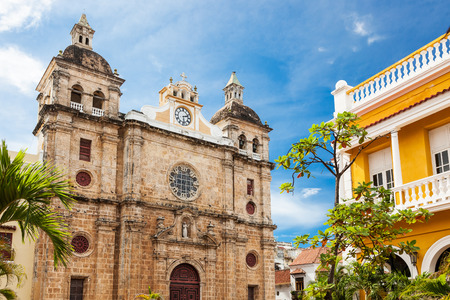 Kirche St. Peter Claver in Cartagena, Kolumbien Standard-Bild - 34936465