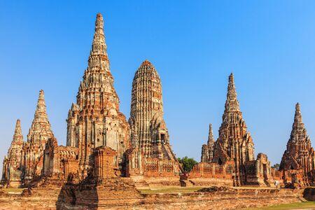 grand pa: Wat Chaiwatthanaram Temple of Ayutthaya Province. Ayutthaya Historical Park, Thailand