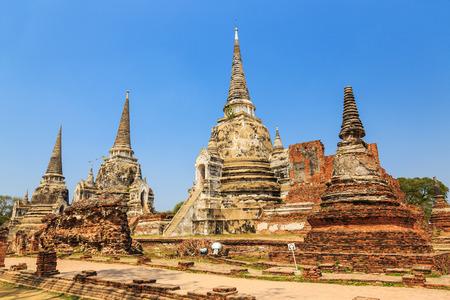 Wat Phra Si Sanphet in the Ayutthaya Historical Park, Ayutthaya, Thailand photo