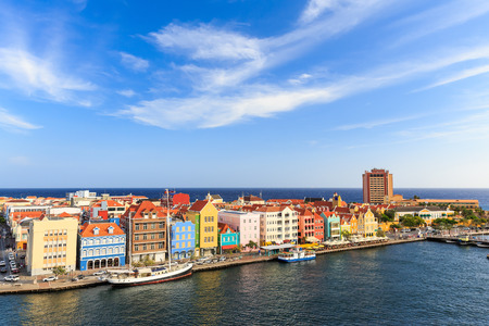 Downtown Willemstad, Curacao, Netherlands Antilles 版權商用圖片 - 38507477