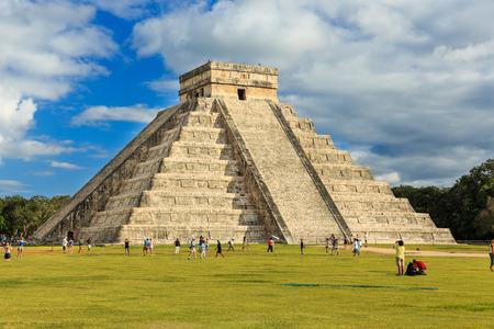 chichen itza: Pyramid of Kukulcan El Castillo in Chichen-Itza (Chichen Itza), Mexico