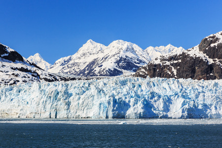 Margerie Glacier in Glacier Bay National Park, Alaska 스톡 콘텐츠