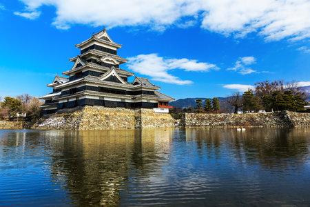 honshu: Medieval castle Matsumoto in the eastern Honshu, Japan Editorial