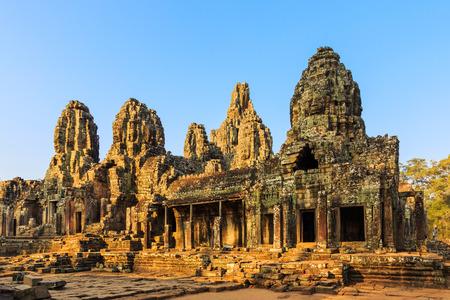 angkor wat: Faces of ancient Bayon Temple At Angkor Wat, Siem Reap, Cambodia