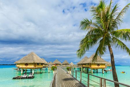Overwater Bungalows Bora Bora island, French Polynesia