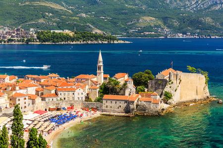 panoramic beach: Panoramic view of the old town Budva, Montenegro