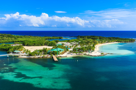 Panoramic view of the Roatan Island, Honduras 写真素材