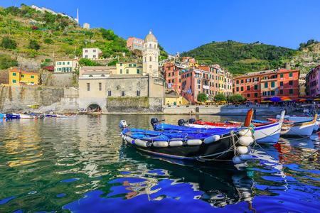 cinque: Cinque Terre, Vernazza. Italy. Fishing village in Cinque Terre national park, Italy. Stock Photo