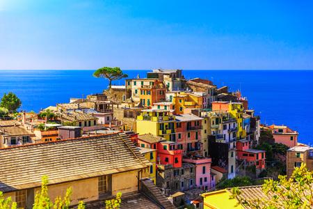Cinque Terre, Corniglia. Italy. Fishing village in Cinque Terre national park, Italy.