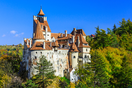 castle: Brasov, Transylvania. Romania. The medieval Castle of Bran, known for the myth of Dracula.