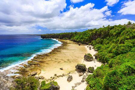 shores: Nukualofa, Tonga. Rugged shores of Nukualofa, Tonga. Stock Photo
