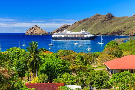 barrier island: Nuku Hiva, Marquesas Islands. Bay of Nuku Hiva.
