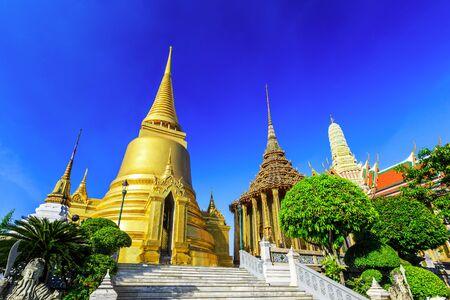 the emerald city: Bangkok, Thailand. Wat Phra Kaew - the Temple of Emerald Buddha Stock Photo