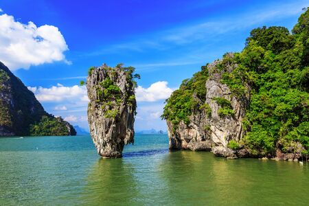the bay: Thailand, Krabi. James Bond Island in Phang Nga Bay.