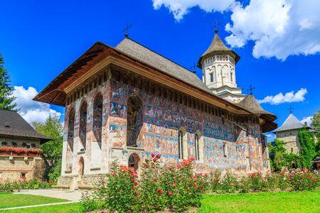 monasteri: Il Monastero Moldovita, Romania. Uno dei monasteri ortodossi romeni nel sud della Bucovina.