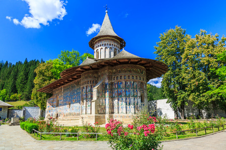The Voronet Monastery, Romania. One of Romanian Orthodox monasteries in southern Bucovina.