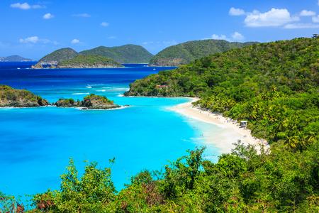 카리브 해, 세인트 존 섬 트렁크 베이, 미국령 버진 아일랜드 스톡 콘텐츠