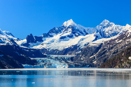 the bay: Johns Hopkins Inlet in Glacier Bay National Park, Alaska Stock Photo