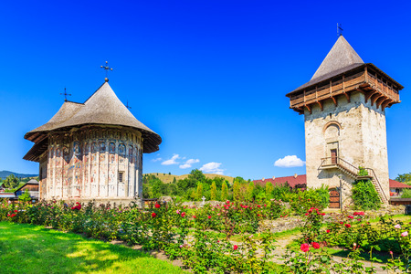 The Humor Monastery, Romania. One of Romanian Orthodox monasteries in southern Bucovina.
