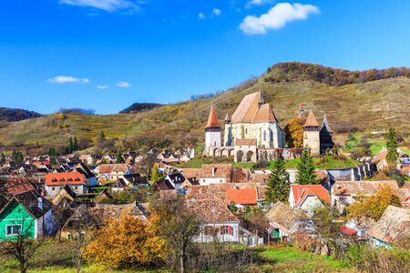 fortify: Biertan village in Sibiu county. Transylvania, Romania.
