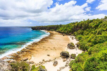 Nukualofa, Tonga. Rugged shores of Nukualofa, Tonga. Stock Photo