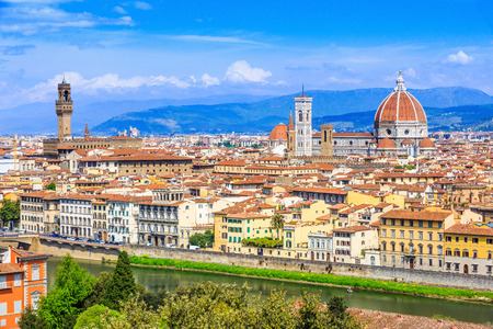 medici: Florence, Italy. View of the old town from Piazzale Michelangelo.