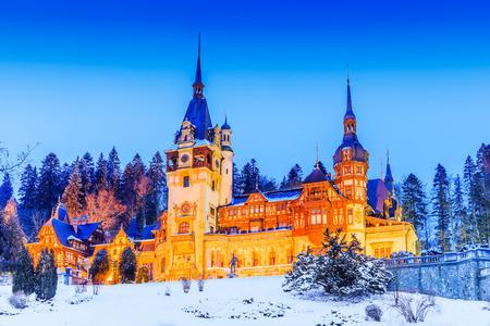 Peles, Sinaia. Roumanie, comté de Prahova. Banque d'images - 75165338