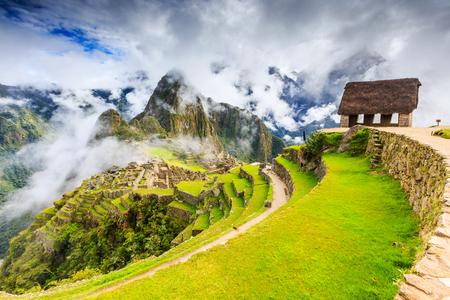 Machu Picchu, Peru. UNESCO World Heritage Site. One of the New Seven Wonders of the World Standard-Bild