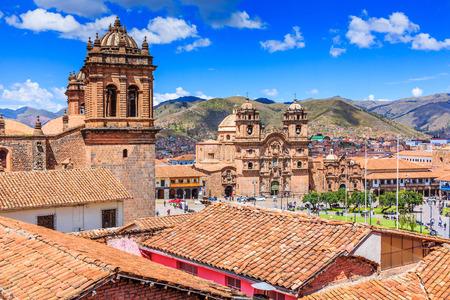 Cusco, Peru the historic capital of the Inca Empire. Plaza de Armas. Stock Photo