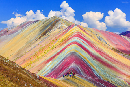 Vinicunca, Cusco Region, Peru. Montana de Siete Colores, or Rainbow Mountain.