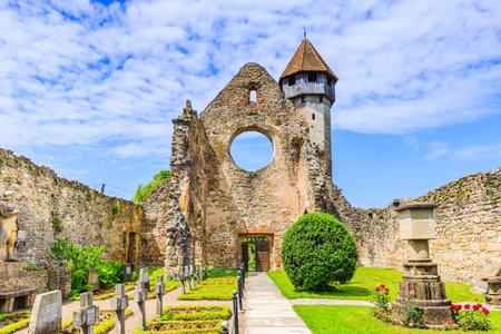 Carta, Sibiu. Ruins of medieval Cistercian abbey in Transylvania, Romania. Editorial