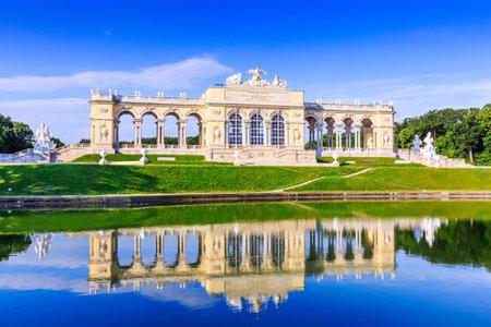 schoenbrunn: Vienna, Austria. The Gloriette pavilion in the Schonbrunn Palace Garden