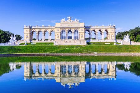 Vienna, Austria - 28 June, 2017:  The Gloriette pavilion in the Schonbrunn Palace Garden Editorial