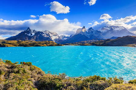 Torres Del Paine National Park, Chile. Pehoe Lake.