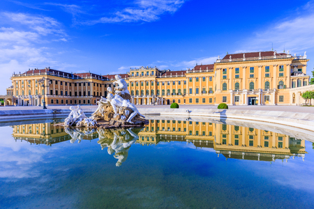 Vienna, Austria - 28 June, 2017: Schonbrunn Palace. The former imperial summer residence is a UNESCO World Heritage site.