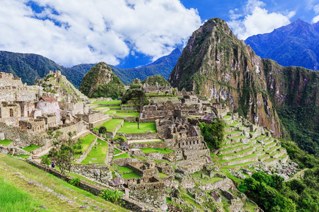 Machu Picchu, Peru. UNESCO World Heritage Site. One of the New Seven Wonders of the World 스톡 콘텐츠