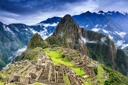 Machu Picchu, Perú. Una de las nuevas siete maravillas del mundo Foto de archivo