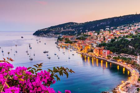Villefranche sur Mer, Francia. Ciudad costera de la Riviera francesa (o Côte d'Azur).
