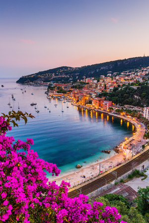 Villefranche sur Mer, France. Seaside town on the French Riviera (or Côte d'Azur). 版權商用圖片 - 119210228
