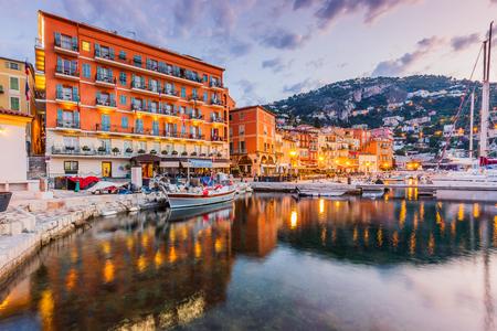 Villefranche sur Mer, Francia. Ciudad costera de la Riviera francesa (o Côte d'Azur). Foto de archivo