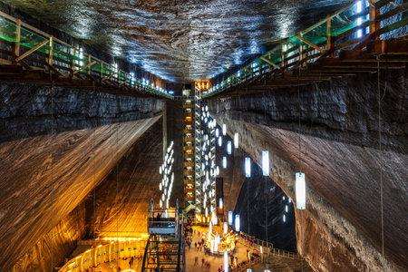 Turda Salt Mine, Romania: 1 June, 2018 - Underground salt mine.
