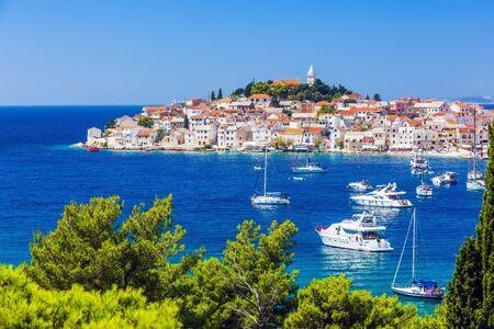 Primosten, Sibenik Knin County, Croatia. Resort town on the Adriatic coast. Stock Photo