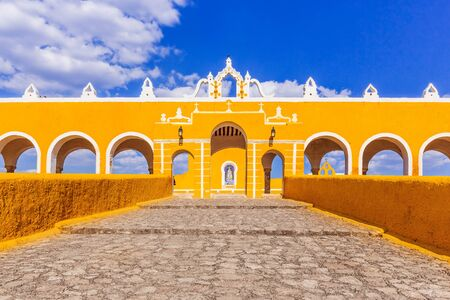 Izamal, Mexico. Convent of Saint Anthony of Padua. 免版税图像