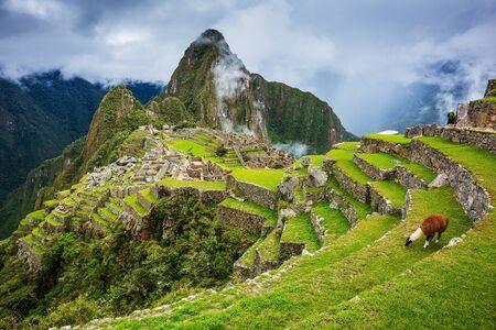 Machu Picchu, Peru. UNESCO World Heritage Site. One of the New Seven Wonders of the World.