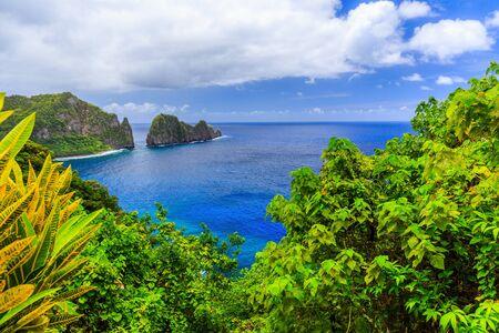 Pago Pago, American Samoa. Camel Rock near the village of Lauli'i.