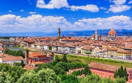 Florence, Italy. View of Florence from Piazzale Michelangelo.