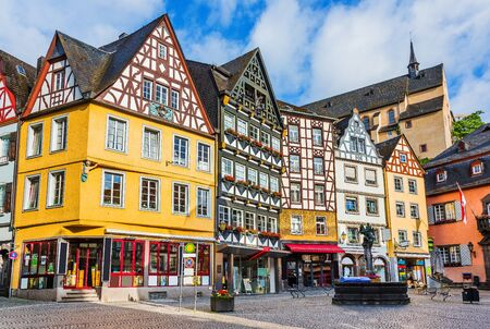 Cochem, Germany. Old town main square.