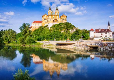 Melk, Austria. Benedictine abbey in Wachau valley.