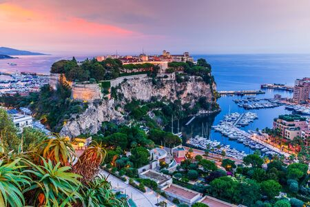 Monaco. Panoramic view of prince's palace and old town in Monte Carlo. 写真素材
